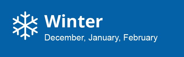 Winter Season: December, January, February