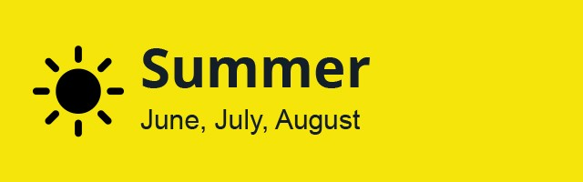 Summer Season: June, July, August